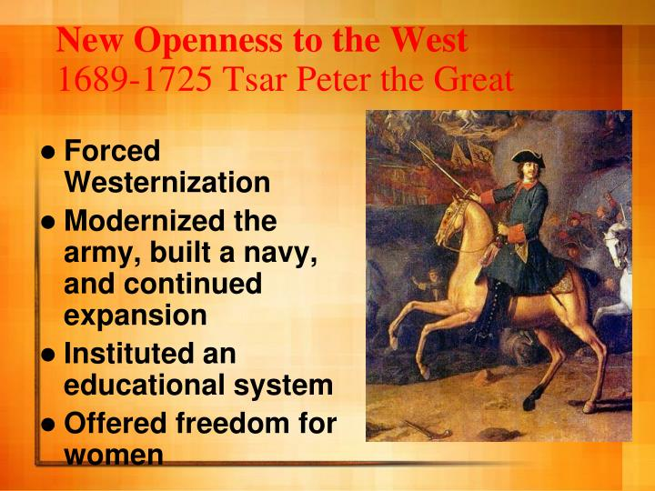 New Openness to the West