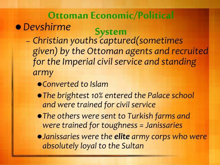 Ottoman Economic/Political System