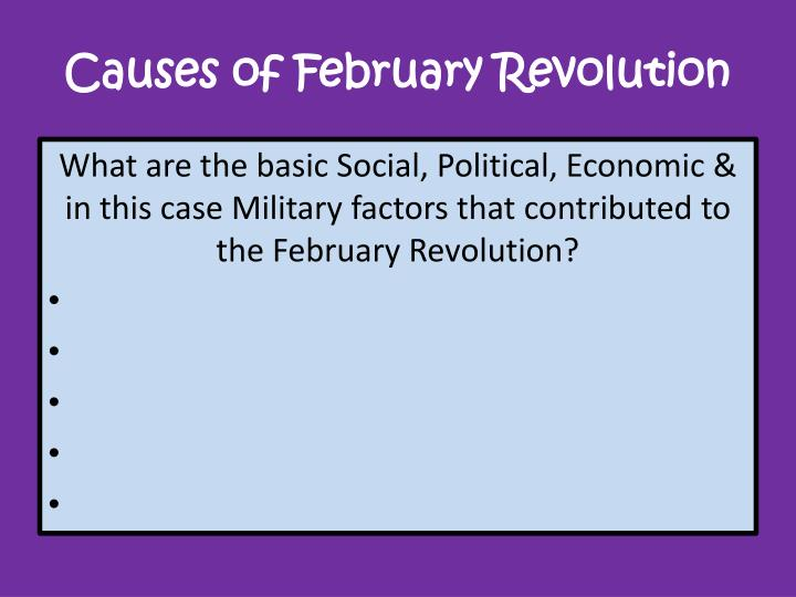 Causes of February Revolution