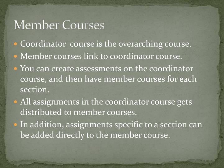 Member Courses