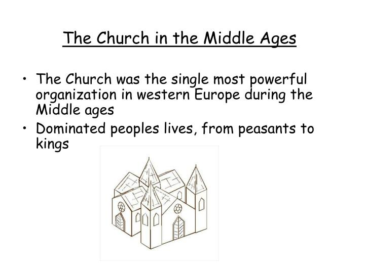 church split during middle ages People & ideas: the roman catholic church in medieval europe with notable exceptions, the church reinforced the political authority of the states.
