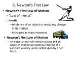 b newton s first law
