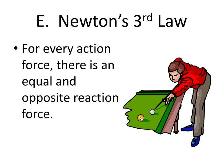 E.  Newton's