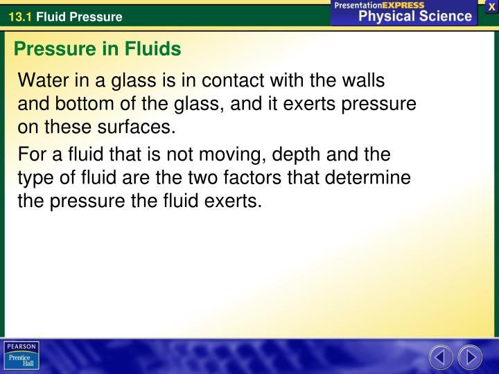 Pressure in Fluids