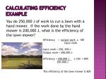 calculating efficiency example