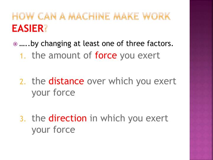 How can a machine make work