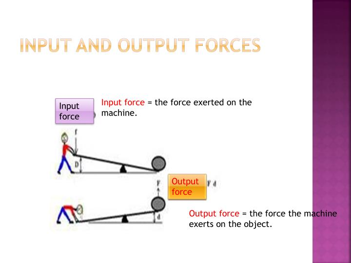 Input and output forces