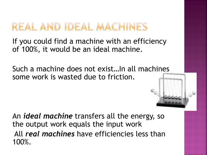 Real and Ideal Machines