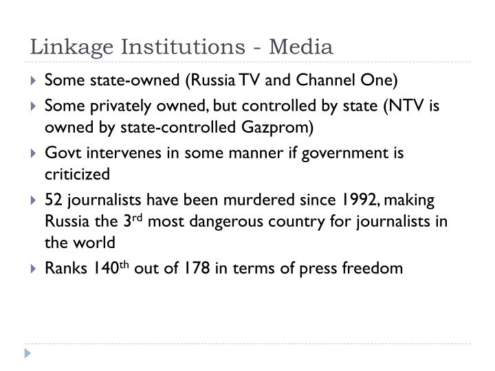 Linkage Institutions - Media