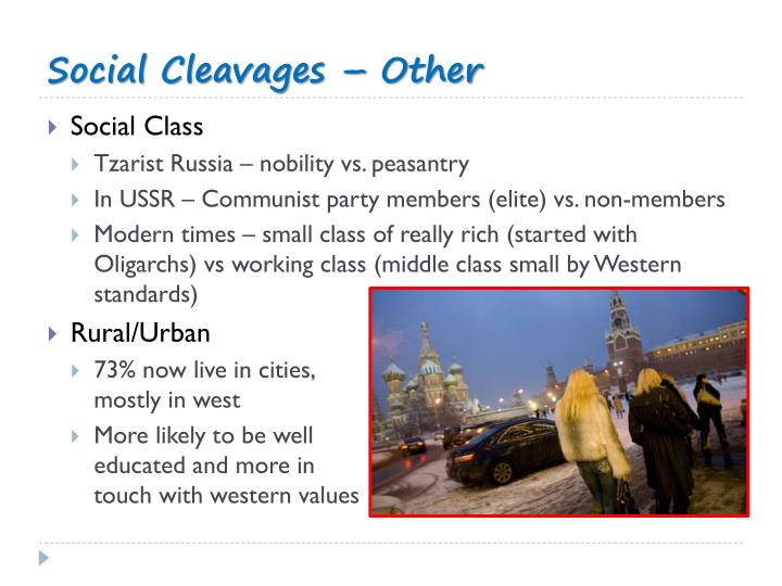 Social Cleavages – Other