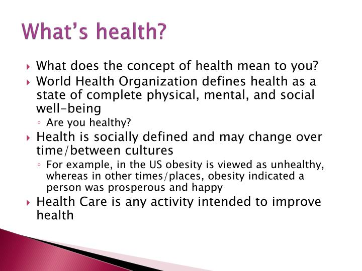 What's health?