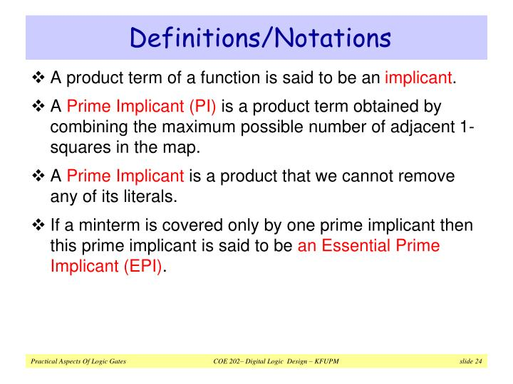 Definitions/Notations