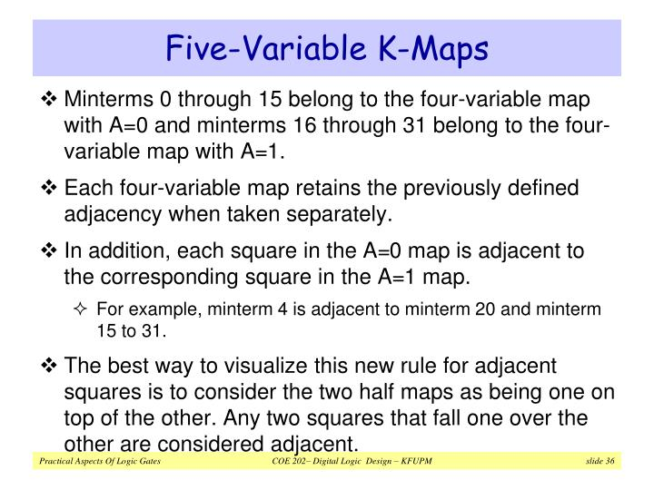 Five-Variable K-Maps