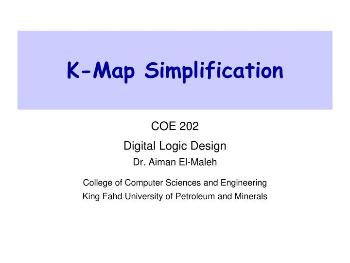K map simplification