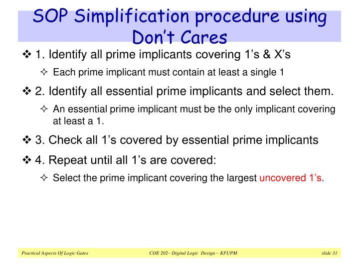 SOP Simplification