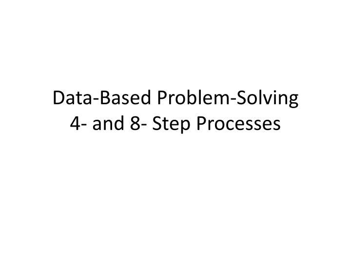Data-Based Problem-Solving