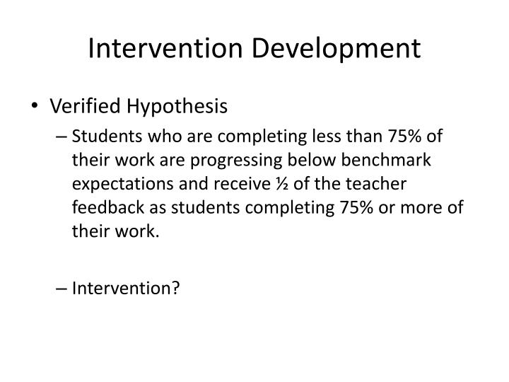 Intervention Development