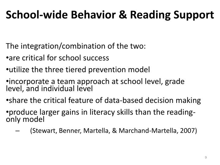 School-wide Behavior & Reading Support