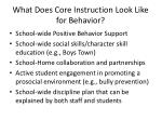 what does core instruction look like for behavior