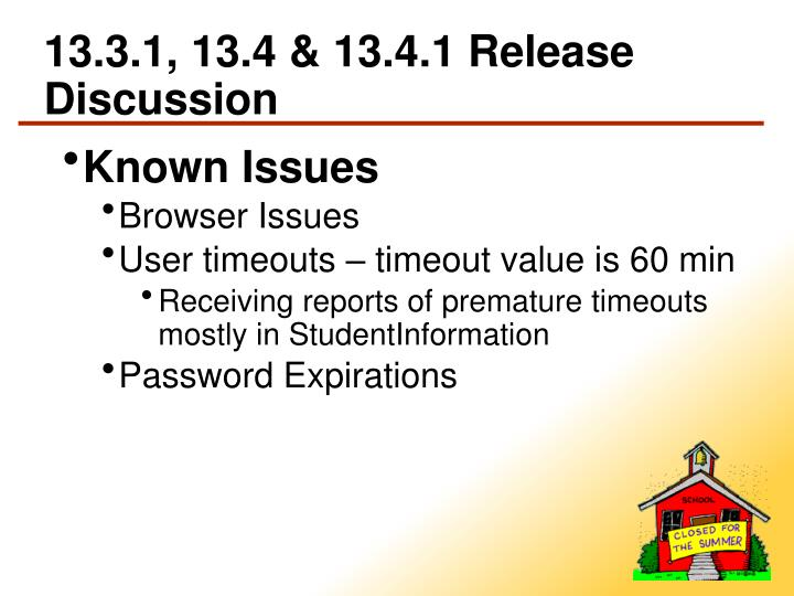 13.3.1, 13.4 & 13.4.1 Release