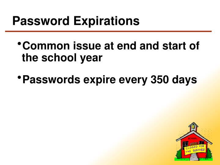Password Expirations