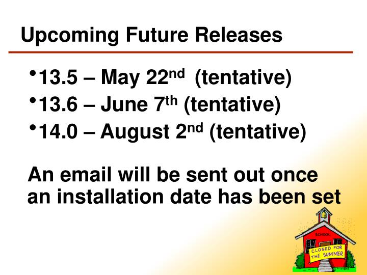 Upcoming Future Releases