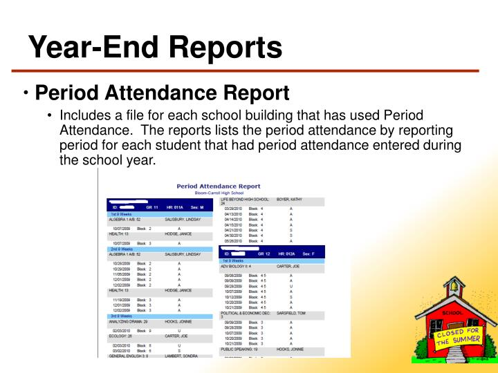 Year-End Reports
