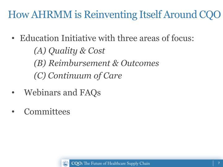 How AHRMM is Reinventing