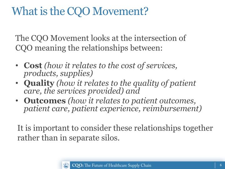 What is the CQO Movement?