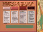 conceptos y definiciones de investigacion de mercados