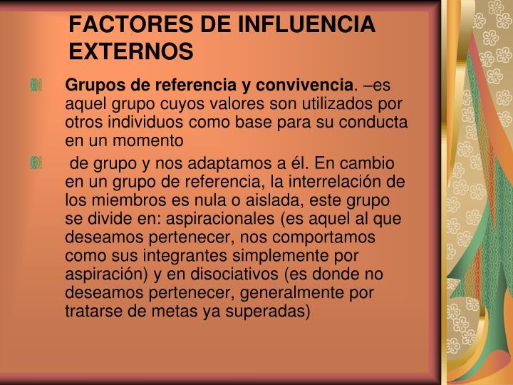 FACTORES DE INFLUENCIA EXTERNOS