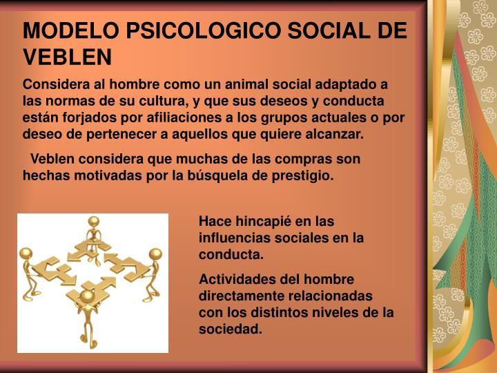MODELO PSICOLOGICO SOCIAL DE VEBLEN