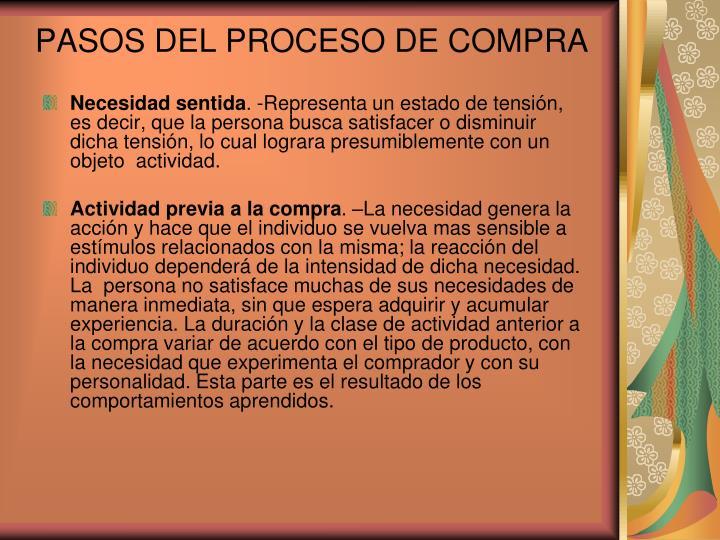 PASOS DEL PROCESO DE COMPRA