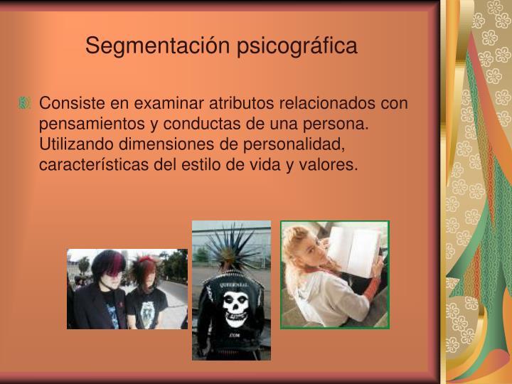 Segmentación psicográfica