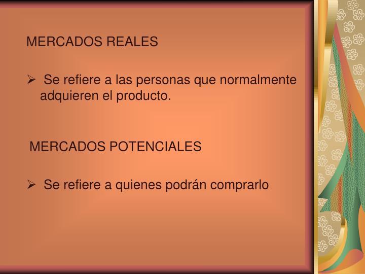 MERCADOS REALES