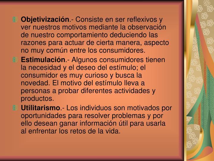 Objetivización