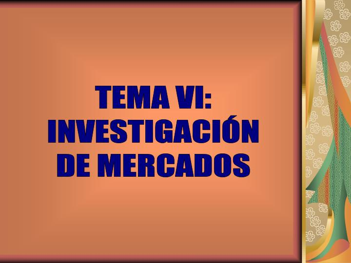 TEMA VI: