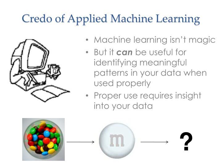 Credo of Applied Machine Learning