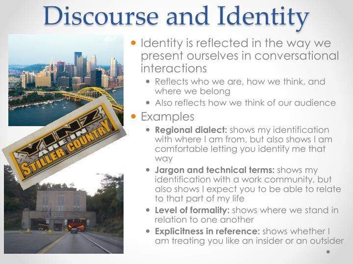 Discourse and Identity