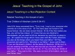 jesus teaching in the gospel of john5