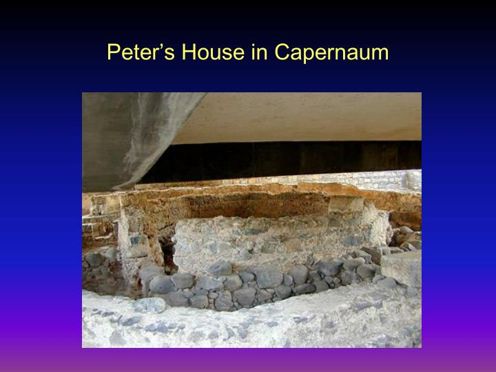 Peter s house in capernaum