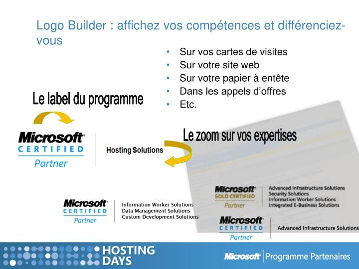 Logo Builder : affichez vos compétences et différenciez-vous