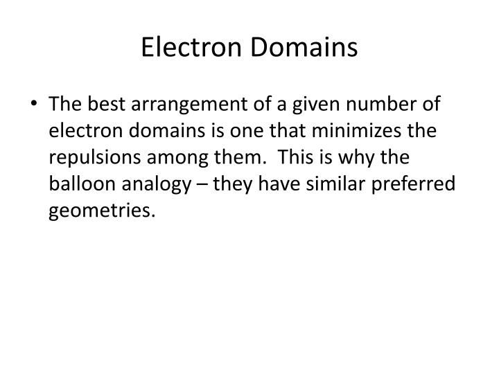 Electron Domains