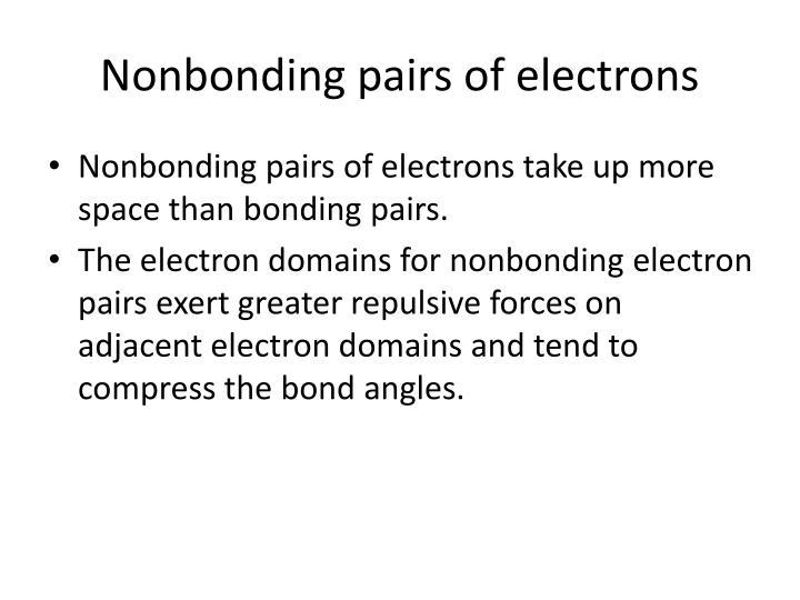 Nonbonding pairs of electrons