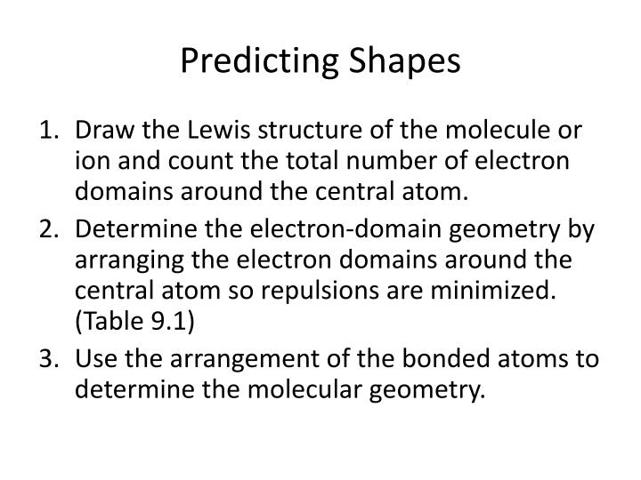 Predicting Shapes