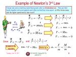 example of newton s 3 rd law