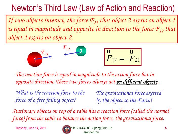 Newton's Third Law (Law of Action and Reaction)