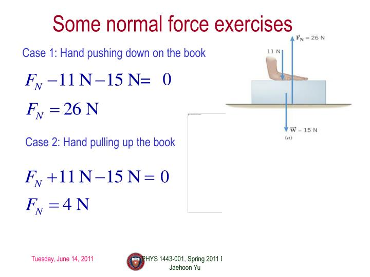 Some normal force exercises