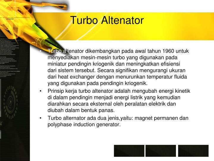 Turbo Altenator