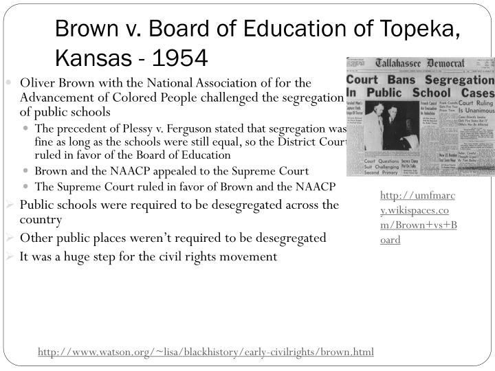 brown v board of education a landmark case in the history of american education Read cnn's fast facts and learn more information about the landmark us supreme court ruling brown v board of education.
